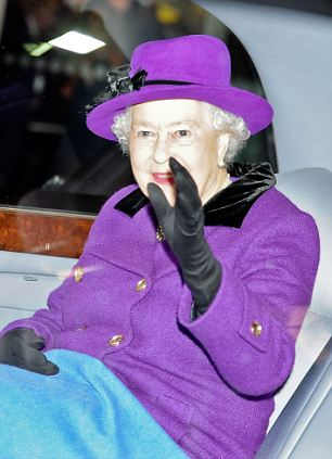 HRM, Queen Elizabeth II leaving the BFI Forever